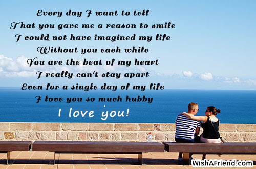 Every Day I Want To Tell Love Message For Husband