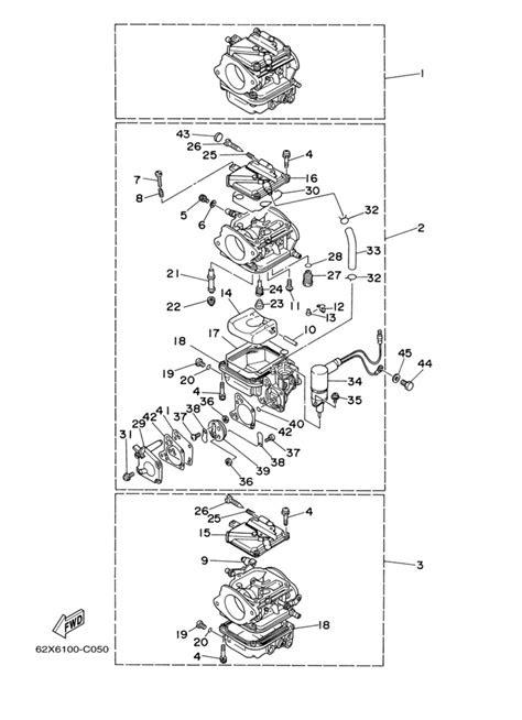 2006 & Later Yamaha Carburetor Parts for 50 hp 50TLR 6H5K