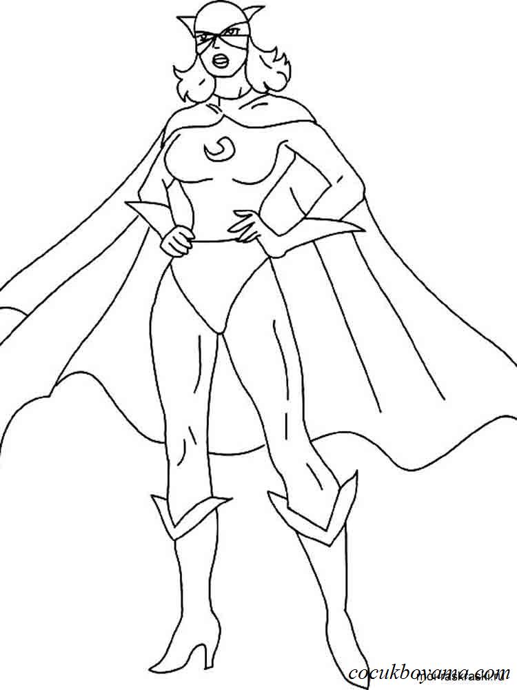 Süper Kahramanlar 9 ücretsiz Boyama Resimleri