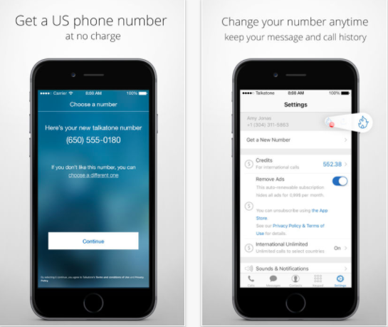 25 Android and iPhone Second Phone Number Apps for Business Only Calls - Talkatone