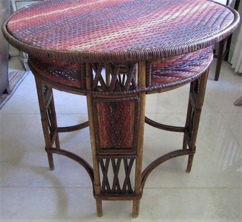 Antique Rattan Garden Table   Interior Boutiques ...