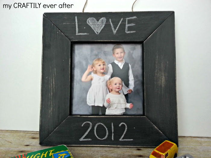 Pottery Barn Kids Knockoff Chalkboard Frame From My Craftily Ever