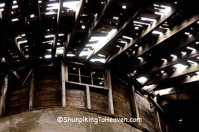 Inside the Dougan Round Barn, 1911, Rock County, Wisconsin