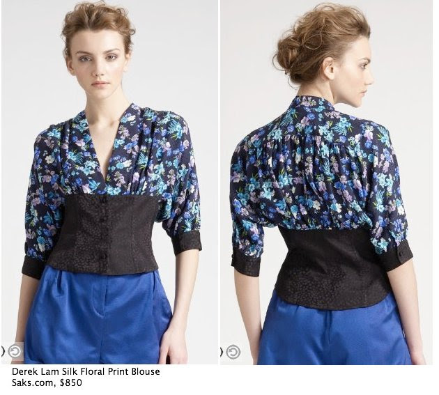 Saks.com - Derek Lam - Silk Floral-Print Blouse