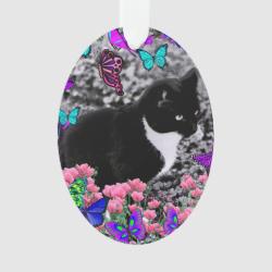Freckles in Butterflies III, Tux Kitty Cat