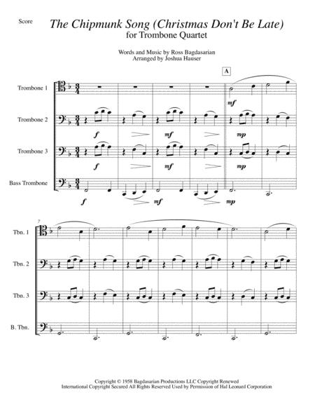 Music Sheet Collection: Chipmunk Song Sheet Music Free