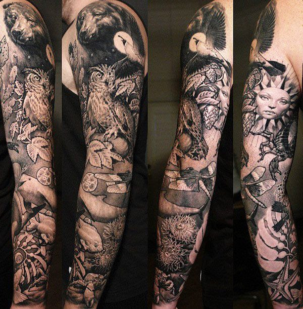 Nature Tattoo Beautiful Nature Full Arm Sleeve Tattoomagz