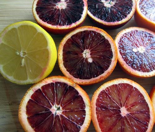 Halved citrus