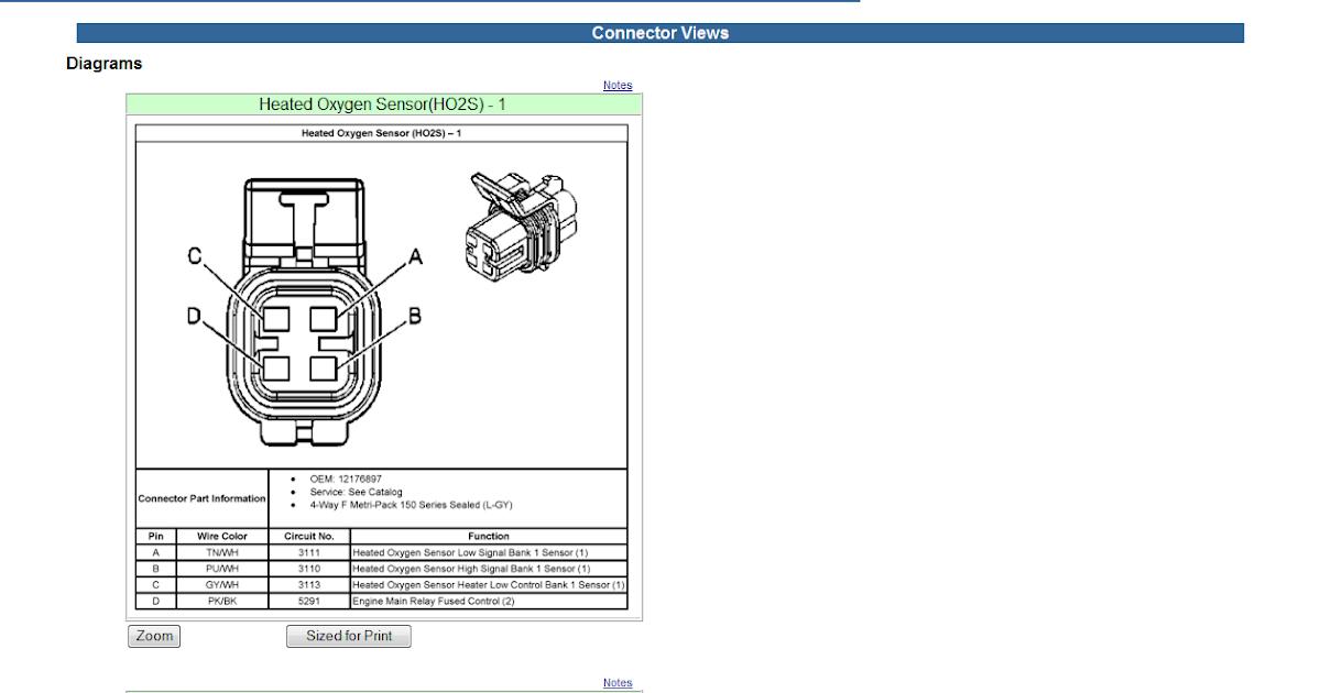 O2 Sensor Wiring Diagram I The Stock That