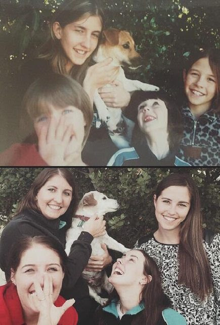 We had to put my dog of 16 years down yesterday, but before we did we recreated our favourite photo with him