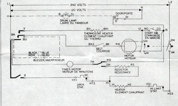electrical    diagram    for whirlpool    dryer      Circuit    Diagrams