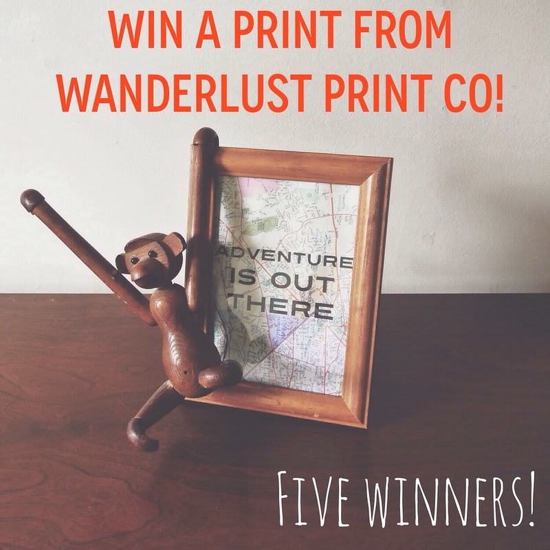 A Wild Giveaway • Win a Wanderlust Print!