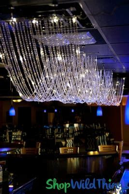 Ceiling Drapes with LED Lights Crystal Beaded Swags