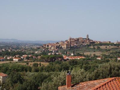 View of Castiglion Fiorentino in Eastern Tuscany