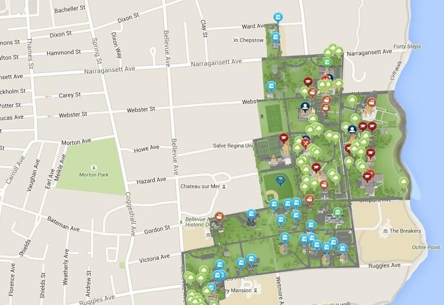 salve regina campus map - florida zip code map