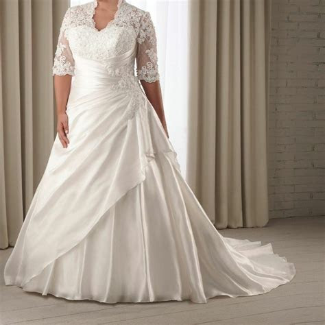 size  sleeve lace wedding dress bridal gown size