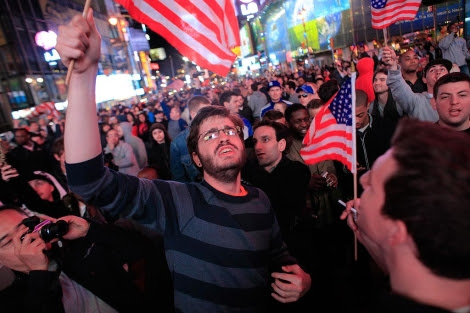 Celebración en Times Square.   Reuters