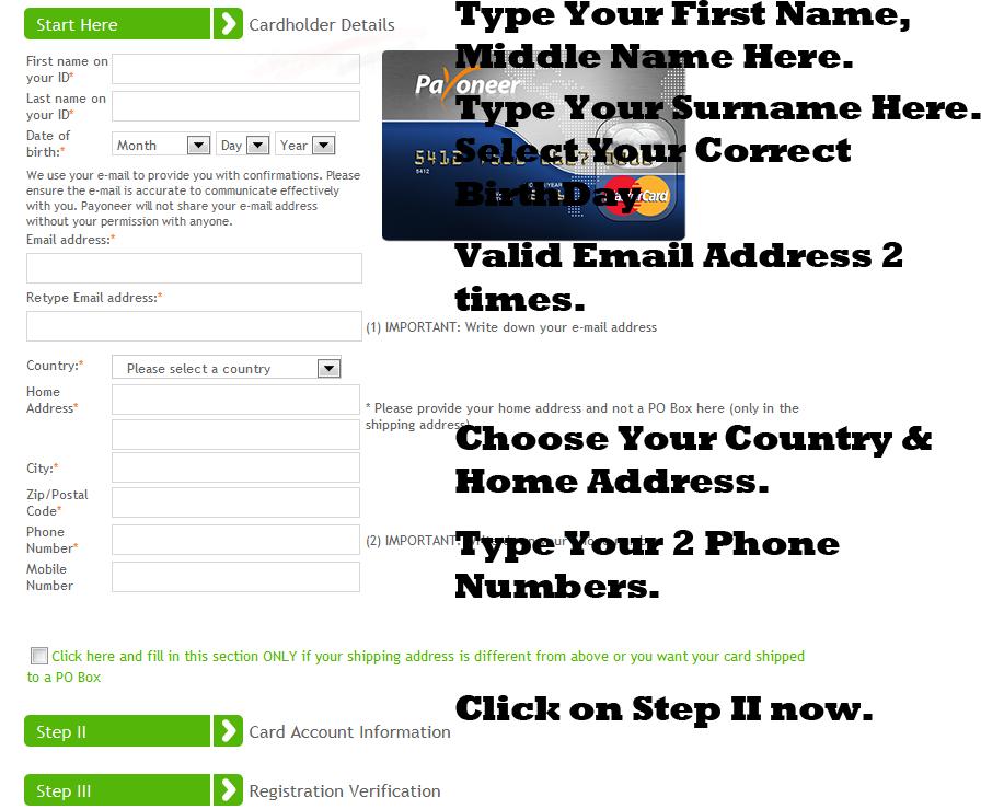 Payoneer Debit Card Application Guide 1