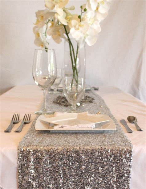 Silver Sequin Table Runner. Add some glam to your glitter