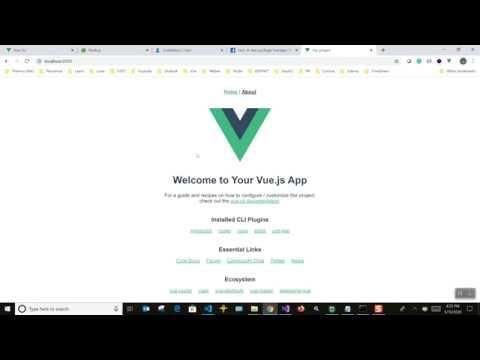 Create a web app using VueJS, Vue CLI