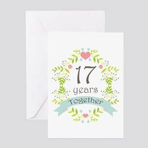 17th Wedding Anniversary Greeting Cards   CafePress