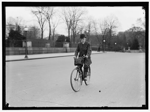 Alvey Adee of Dept of State Riding Bicycle to Work(1914)