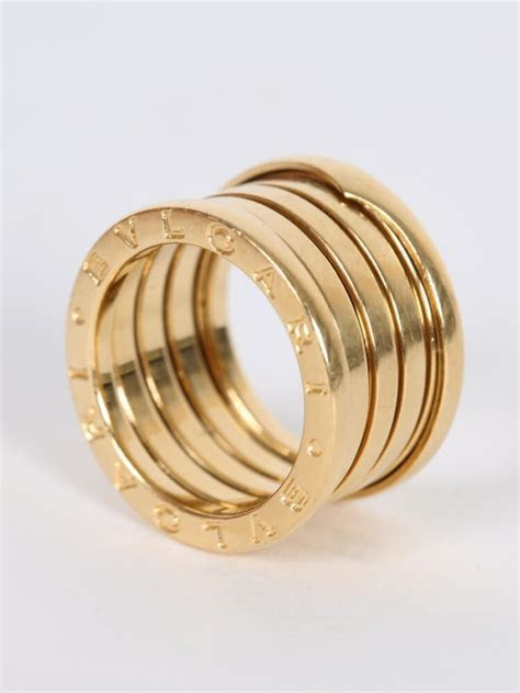 Bulgari   B.Zero 5 band 18kt Gold Ring 52   Luxury Bags