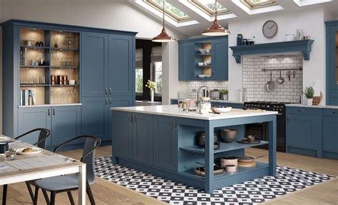modern design navy blue mdf shaker kitchen cabinets