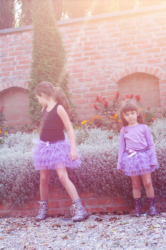 lilac tulle skirts