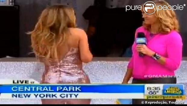 Mariah Carrey reclamou porque a participação no programa 'Good Morning America' era muito cedo: 'Este é o drama de uma diva. Eu acordei a esta hora, eu não queria acordar, queria continuar dormindo. Esse horário é muito cedo pra mim', escreveu a cantora na rede social