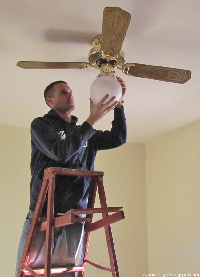 Our Bedroom goodbye ceiling fan
