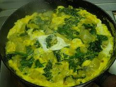 spinach potato omelette