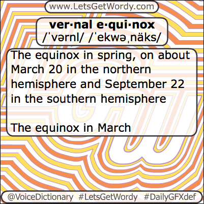 Vernal Equinox 03/20/2017 GFX Def of the Day