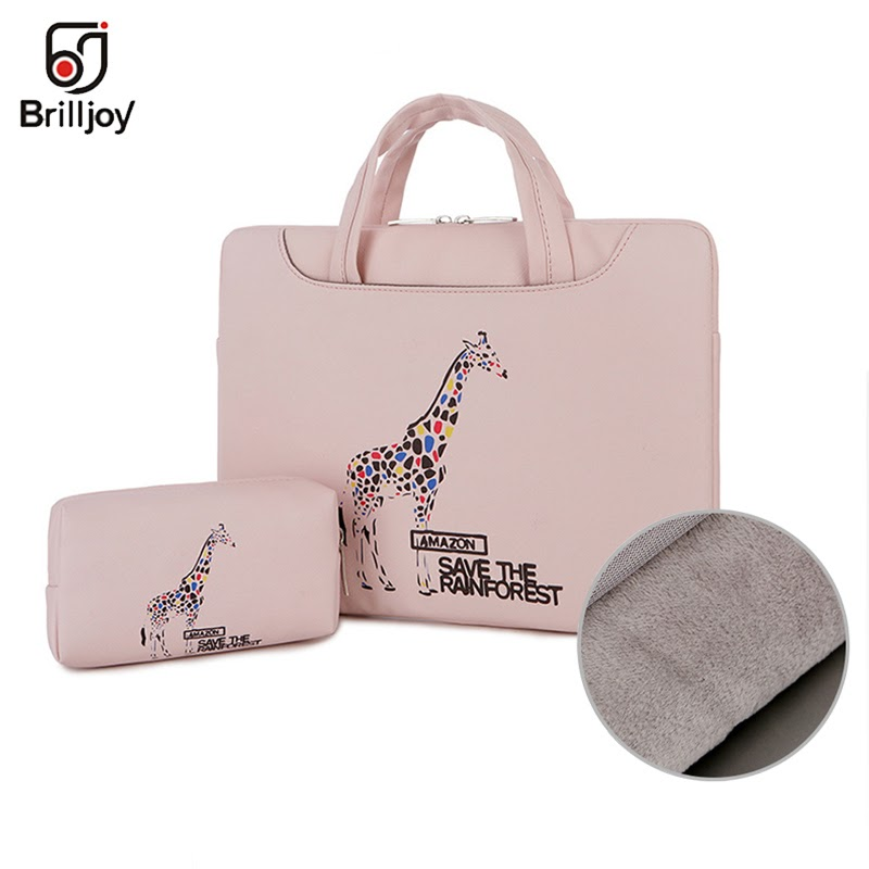 NEW Brilljoy scratch-proof waterproof laptop briefcase handbag for 13 14 15inch Cartoon painted travel bag for men and women new