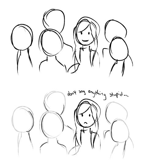 anxiety comics social anxiety thelatestkate •