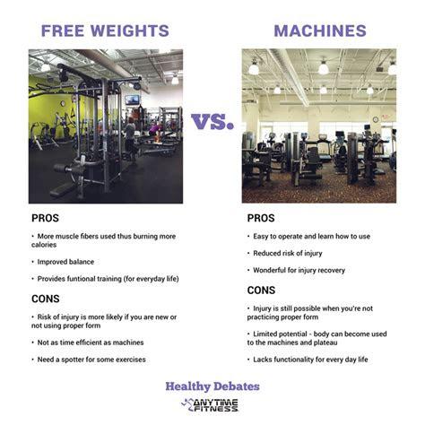 healthy debate  weights  machines