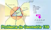 Problema de Geometría 159 (ESL): Triangulo, Distancia del Circuncentro al Incentro y los Excentros en funcion del Circunradio