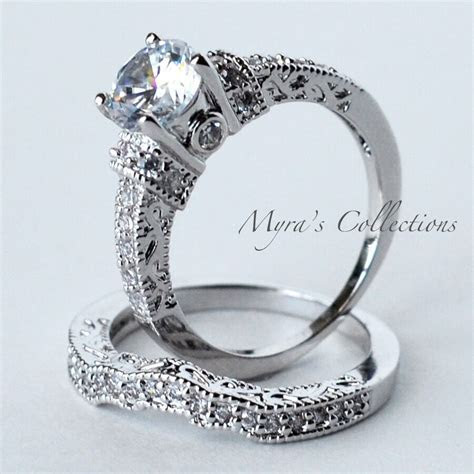3.20CT VINTAGE FILIGREE BRIDAL WEDDING ENGAGEMENT RING