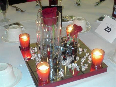 DIY centerpieces for cheap! Vases, rocks, candles from