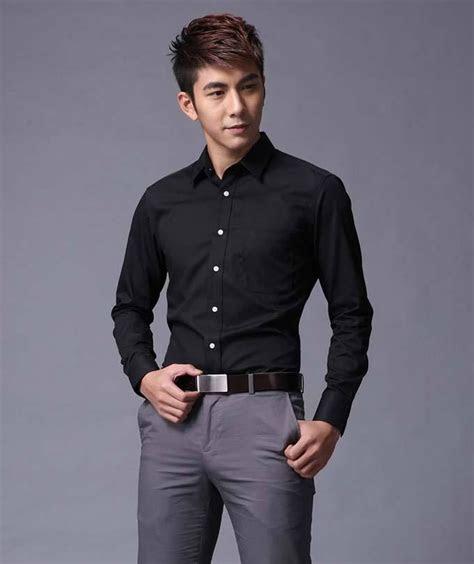 camisas de negocios casual slim fit estilo de camisas de