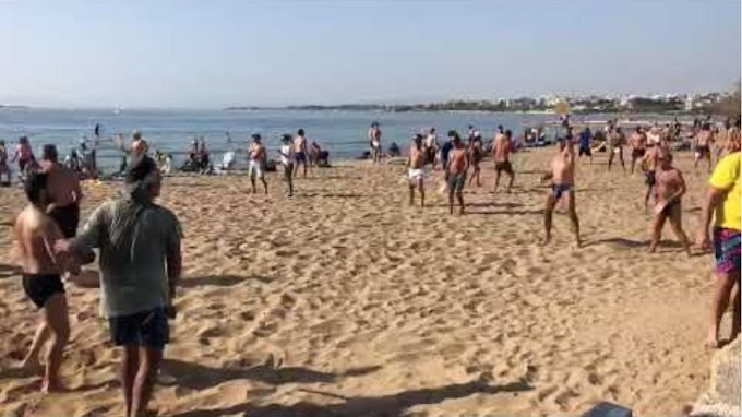 Κάνε τον χειμώνα καλοκαίρι...Πλήθος κόσμου συγκεντρώθηκε στην παραλία στο Καβούρι σε μια ημέρα που θύμιζε Μάϊο