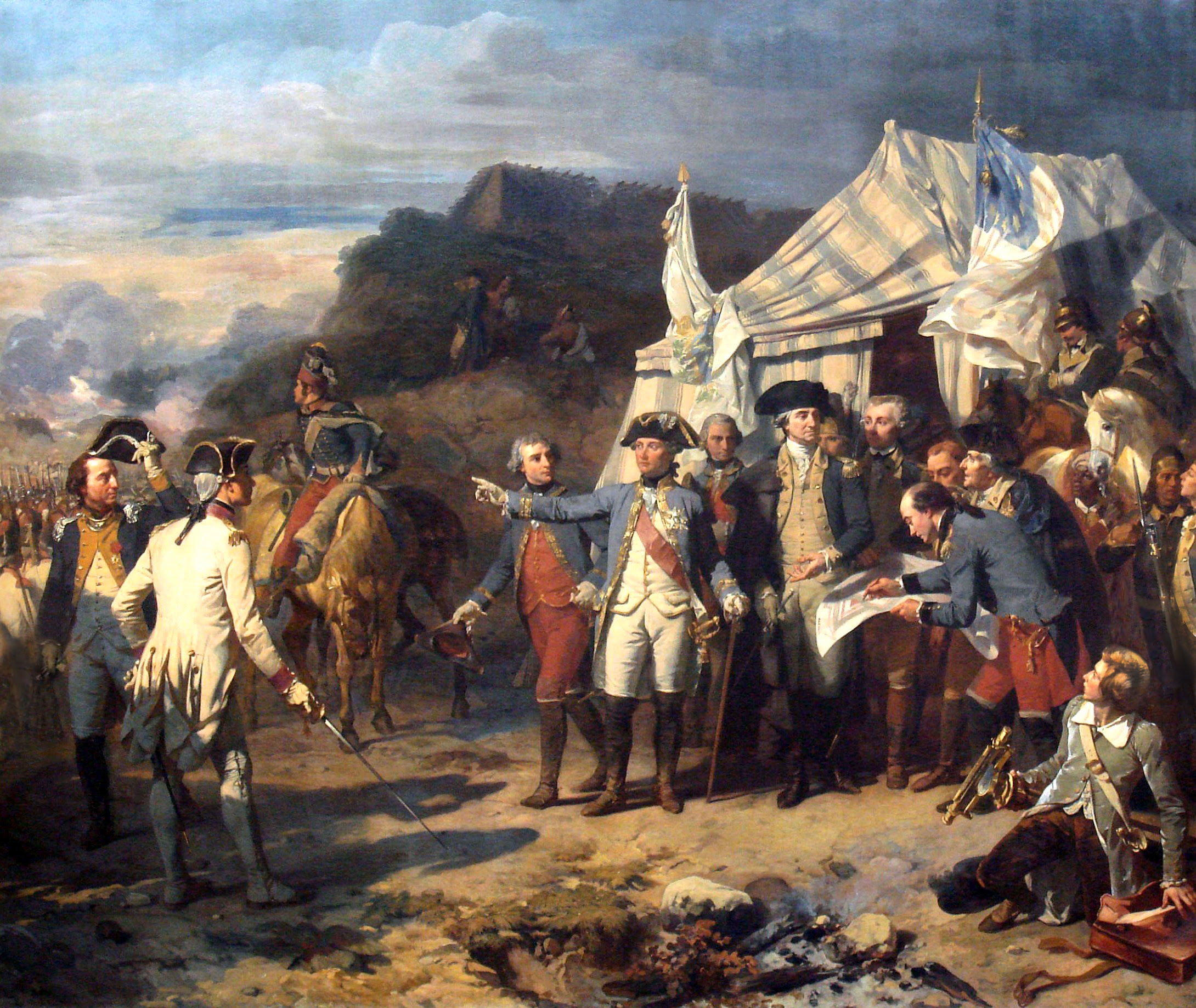 Siège de Yorktown by Auguste Couder