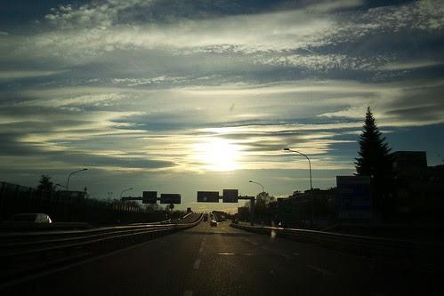 Il rientro a Milano con il #tramonto by Ylbert Durishti