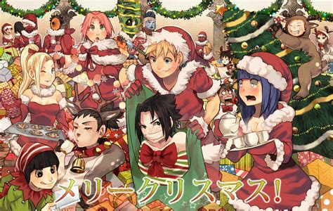 naruto merry christmas   uzucake daily anime art