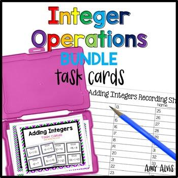 Integer Task Cards Bundle - 144 task cards