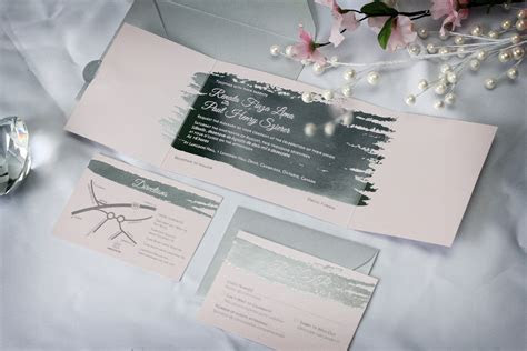 Silver Foil Stamped Wedding Invitations   Impressions