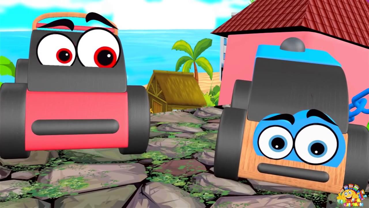 Kartun Anak LUCU Video Mainan Kartun Anak Mobil Tank Kereta Api