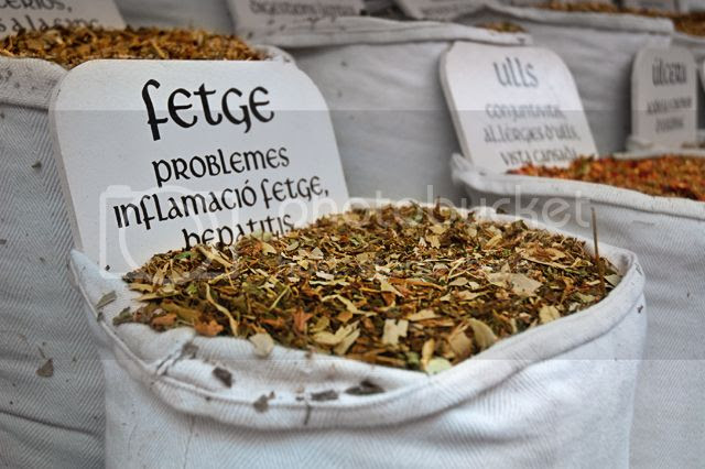 Medicinal Herbs, Medieval Fair, Vic [enlarge]