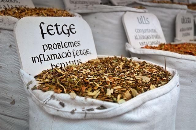 Medicinal Herbs, Medieval Fair, Vic [enlarge]