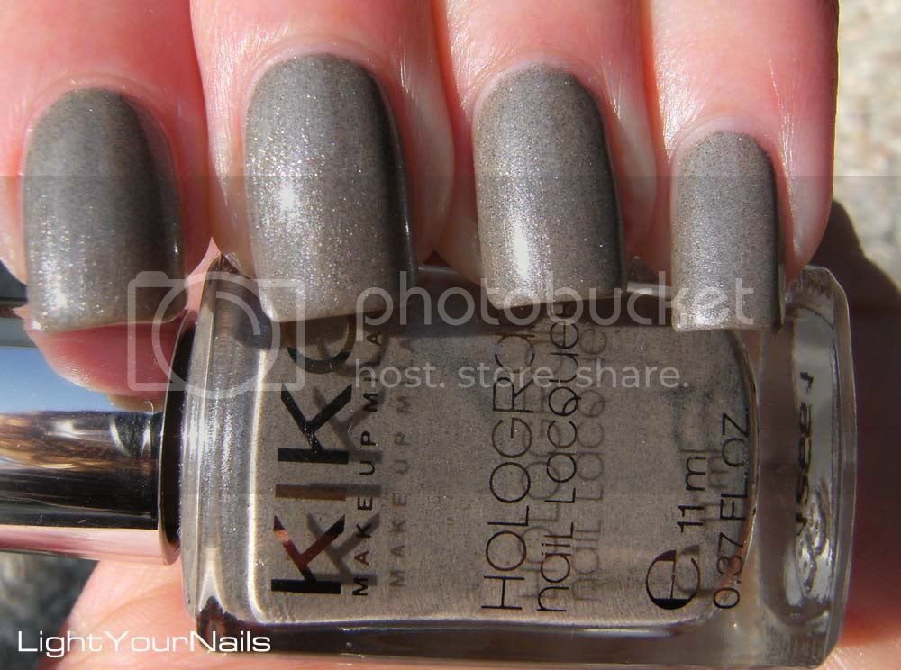 Kiko Infinite Taupe (Hologram Effect - Light Impulse Winter 2011 LE) n. 350